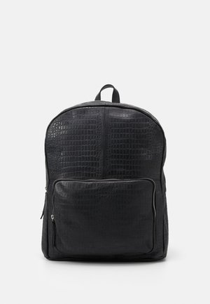 LUKE BACKPACK CROCO - Rucksack - black