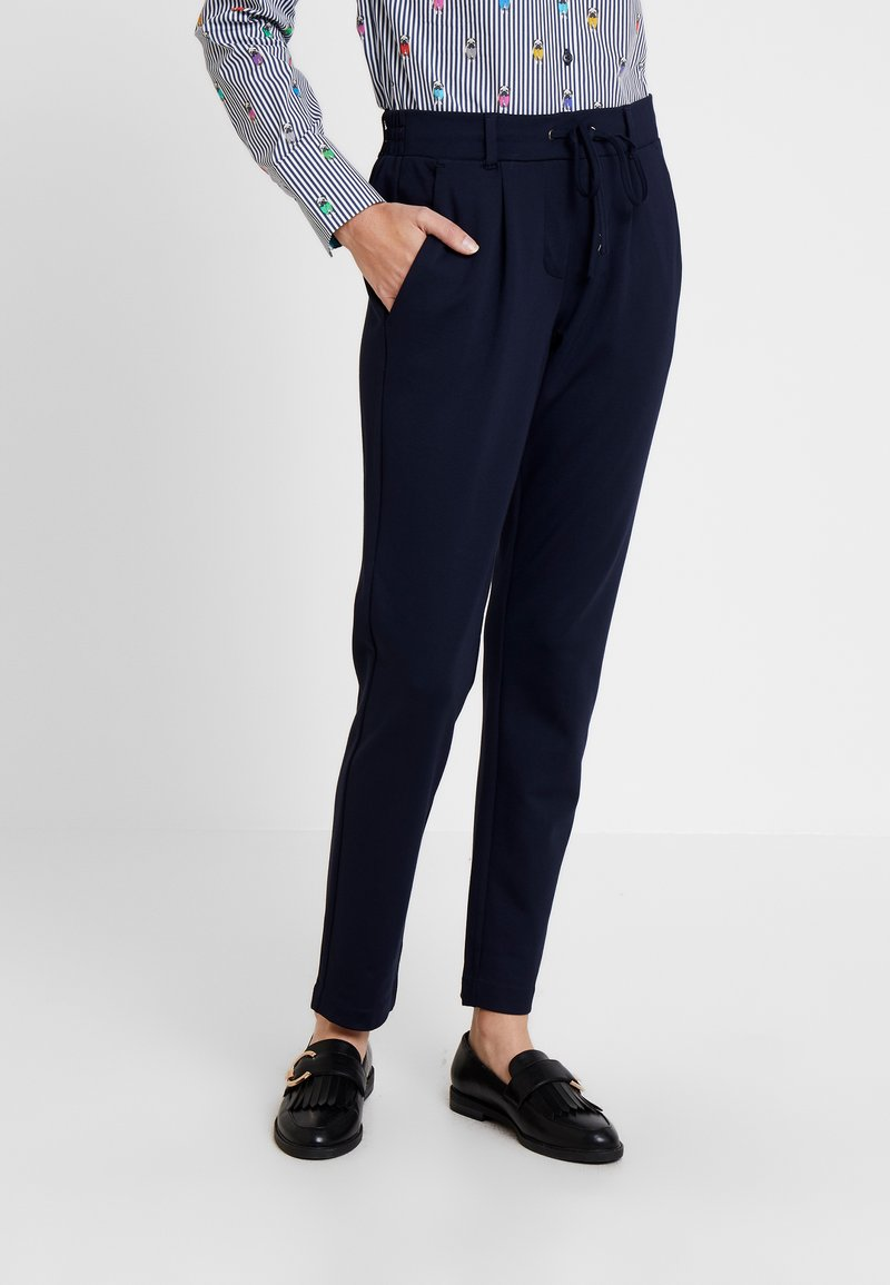 TOM TAILOR - PANTS ANKLE - Trousers - night sky blue