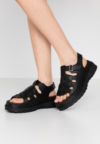 Skechers Sport - JAMMERS - Platform sandals - black - 0