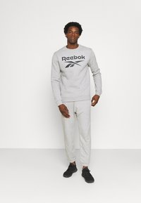 Reebok - IDENTITY CREW GRAPHIC - Sweatshirt - medium grey heather/black - 1