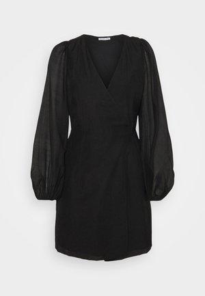 SONIA WRAP DRESS - Korte jurk - black