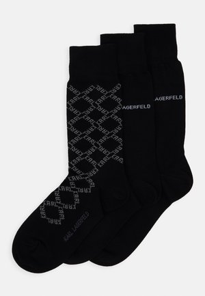 3 PACK - Calcetines - black