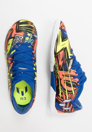 NEMEZIZ MESSI 19.3 - Indoor football boots - royal blue/silver metallic/solar yellow
