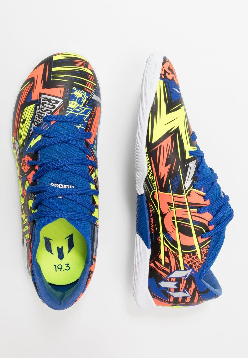 adidas Performance - NEMEZIZ MESSI 19.3 - Indoor football boots - royal blue/silver metallic/solar yellow