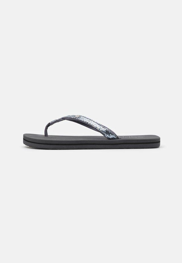 GLITTER INFINIT - Sandalias de dedo - grey