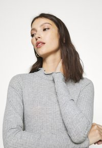 New Look - TURTLE NECK BODY - Long sleeved top - mid grey - 4