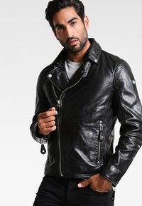 Gipsy - UNISEX MAVRIC  - Leather jacket - schwarz - 0