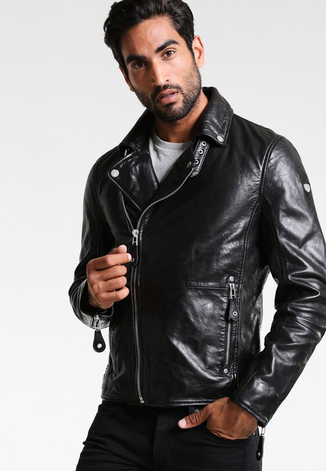 UNISEX MAVRIC  - Leather jacket - schwarz