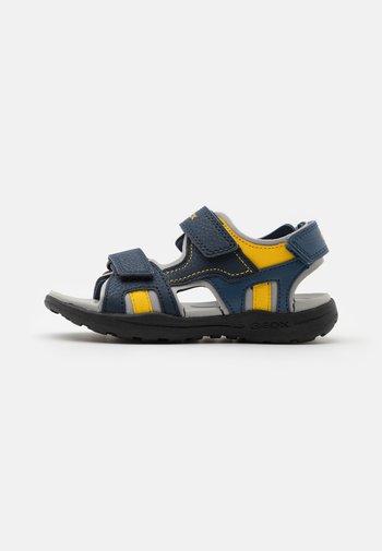 VANIETT BOY - Walking sandals - navy/yellow