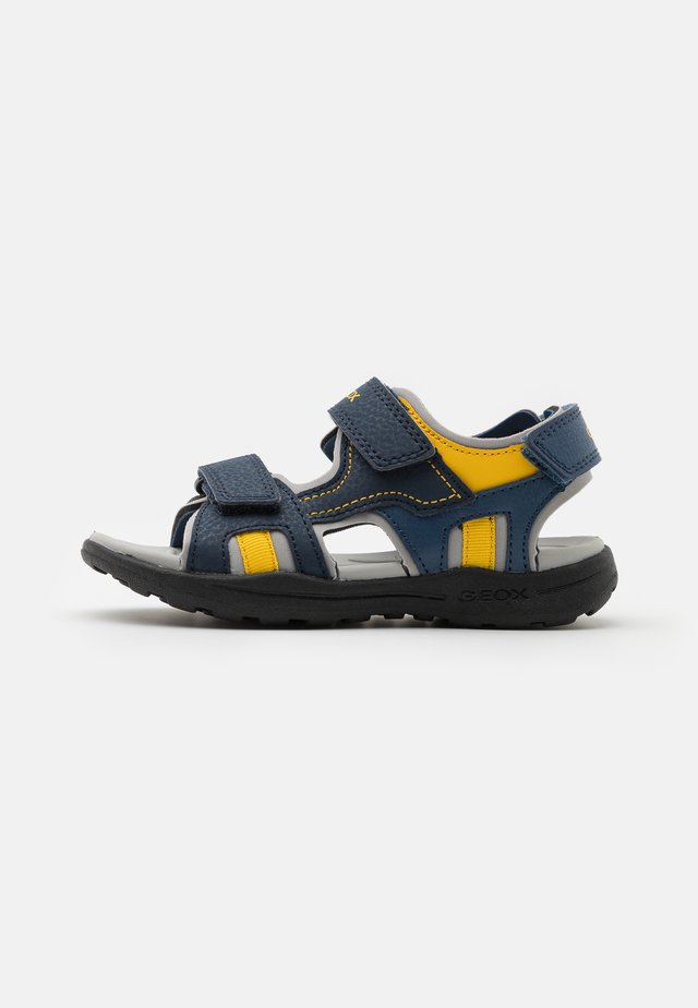 VANIETT BOY - Walking sandals - navy/yellow