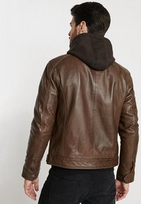 Serge Pariente - ERIC HOOD - Leather jacket - mocca - 2
