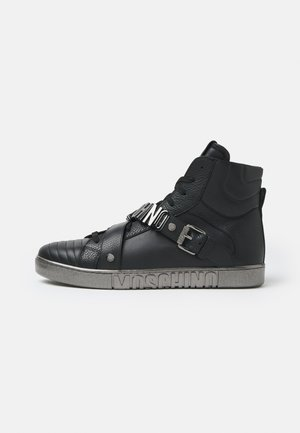 High-top trainers - black/silver-coloured