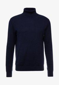 Esprit - ROLLNECK - Stickad tröja - navy - 4