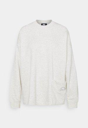 CREW EARTH DAY - Sweatshirt - oatmeal heather/white