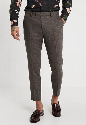 MOONLIGHT TROUSERS - Kostymbyxor - brown