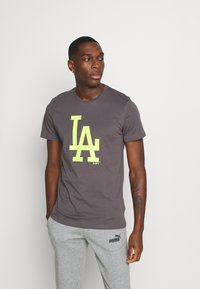 New Era - MLB LOS ANGELES DODGERS SEASONAL TEAM LOGO TEE - Club wear - dark grey - 0