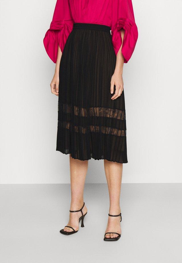 MIDI SKIRT - Pleated skirt - black