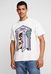 Obey Clothing - MAUSOLEUM - Printtipaita - cream - 0
