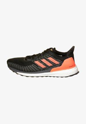 SOLAR BOOST - Zapatillas de running estables - core black/signal coral/gold metallic