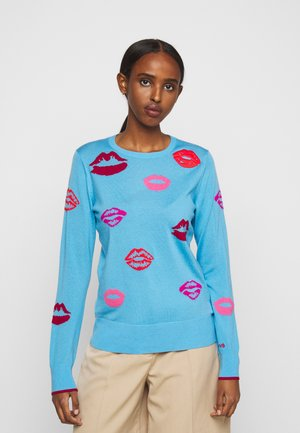 RELAXED LIPS JUMPER - Sweter - pale blue