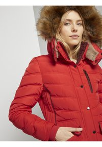 TOM TAILOR - SIGNATURE PUFFER COAT - Winter coat - strong red - 3