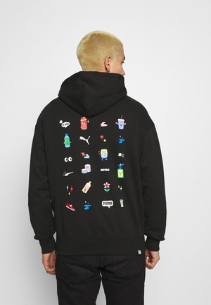 DOWNTOWN GRAPHIC HOODIE - Hoodie - black