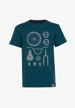BMX PARTS - Print T-shirt - dark-petrol