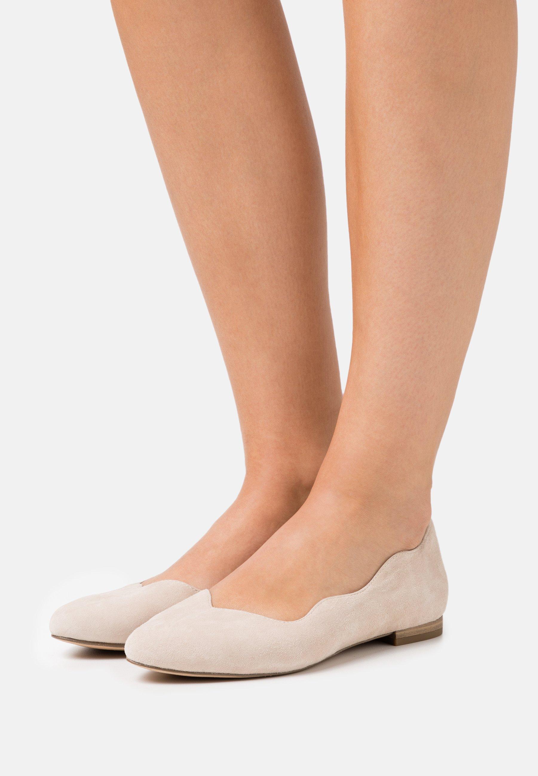 Women SLIP ON - Ballet pumps - sand