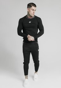 SIKSILK - GYM TEE - Camiseta de manga larga - black - 1