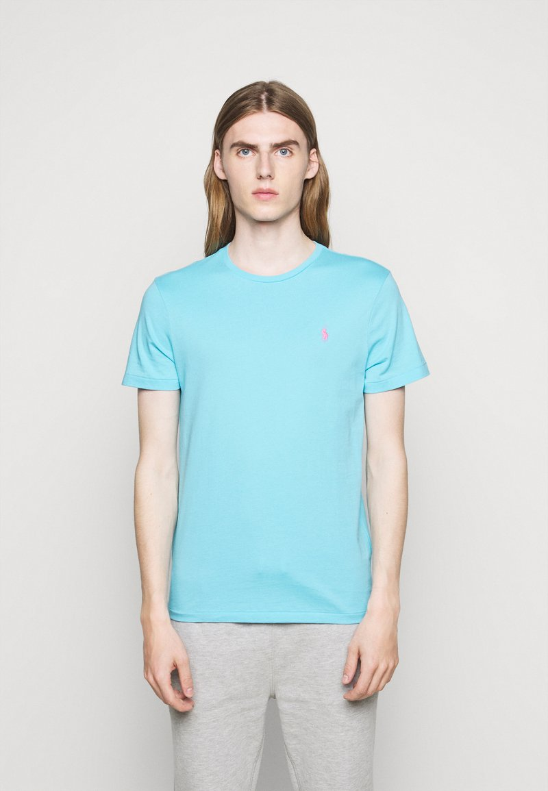 Polo Ralph Lauren - CUSTOM SLIM FIT CREWNECK - Basic T-shirt - french turquoise