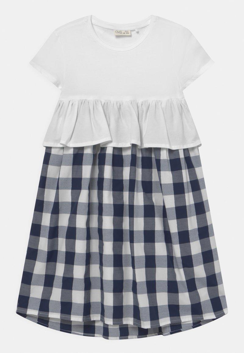 OVS - CHECKED - Korte jurk - bright white