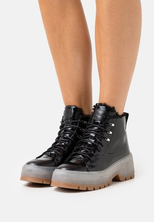 JIN HIKING - Lace-up ankle boots - black