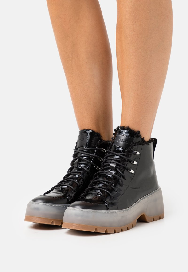HUGO - JIN HIKING - Lace-up ankle boots - black