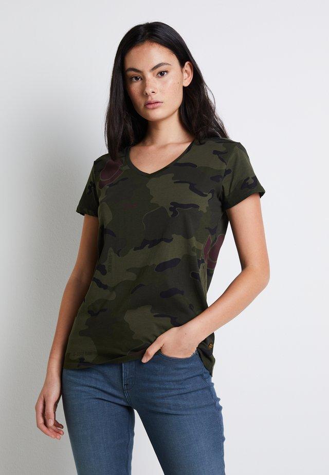 Print T-shirt - khaki