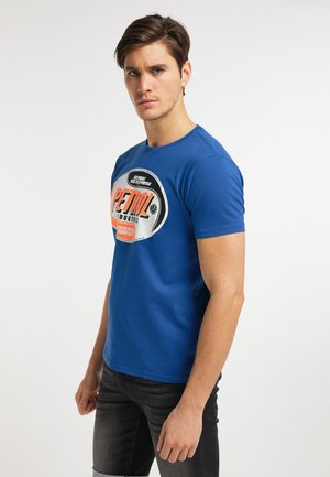 T-shirt med print - imperial blue