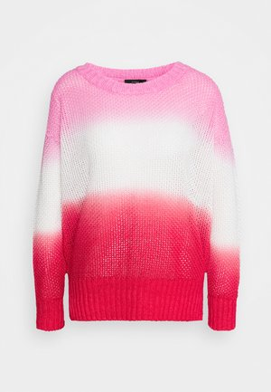 DIP DYE BEACH - Jumper - larkspur/pink/authentic red