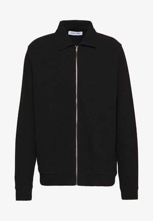 HERRSKOV ZIP - Zip-up hoodie - black