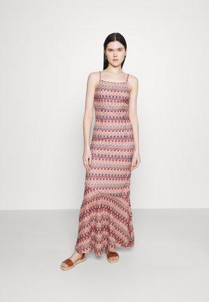 VIFESTIVA MAXI STRAP DRESS - Maxi dress - sandshell/multicolored jacquard