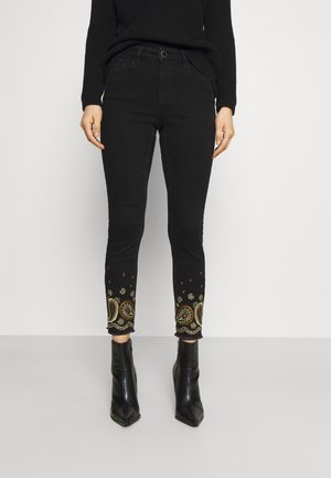 DENIM_BELGICA - Jeansy Skinny Fit - black
