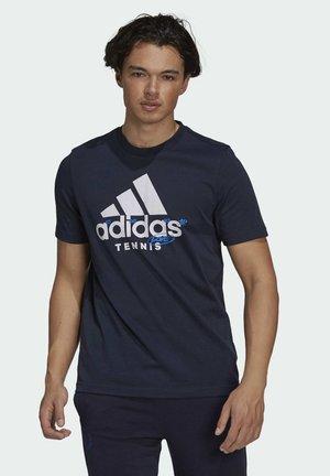 M SS CAT TEE - T-shirt imprimé - blue