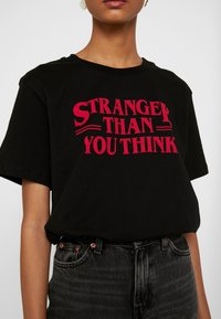 Even&Odd - Camiseta estampada - black - 4