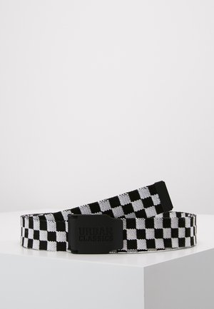 EXTRA LONG BELT - Pasek - black/white