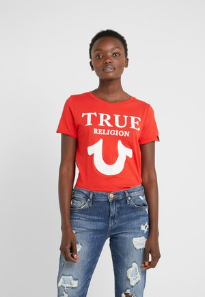 CREW LOGO PUFFY - T-shirt med print - red
