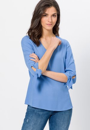 MIT BINDEDETAIL - Long sleeved top - viola blue