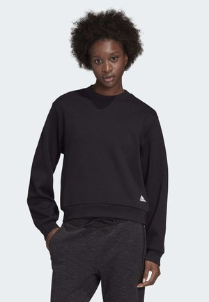 PLEATED SWEATSHIRT - Sweatshirt - black