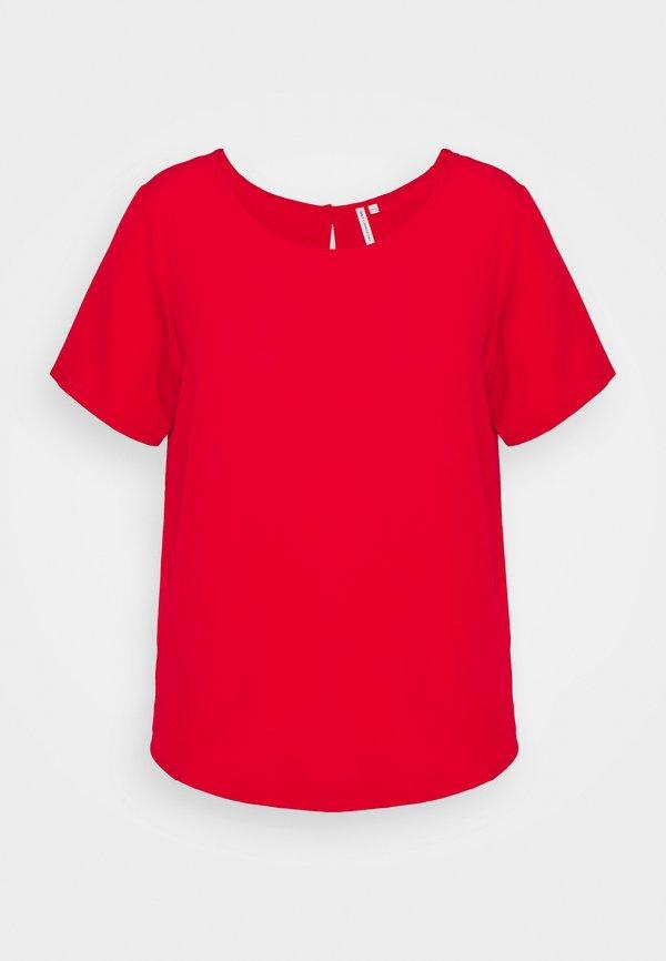 ONLY Carmakoma CARLUXMAJA SOLID - Bluzka - mars red/czerwony QNKM