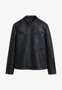 Mango - JOSENO - Faux leather jacket - black - 5
