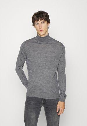TURTLE NECK - Jumper - dark grey melange