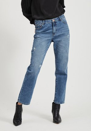 Straight leg jeans - medium blue denim