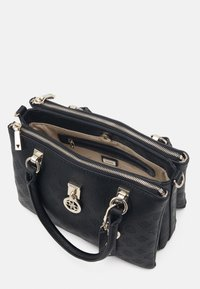 Guess - NINNETTE STATUS SATCHEL - Handbag - black - 2